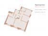 """Схема квартиры в проекте """"Медный 3.14""""- #141563049"""