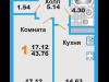 """Схема квартиры в проекте """"Менделеев""""- #295056913"""