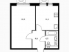 "Схема квартиры в проекте ""Молодогвардейская 36""- #1513556325"