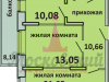 """Схема квартиры в проекте """"Московский (Красная горка)""""- #2094433357"""