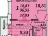 """Схема квартиры в проекте """"Московский (Красная горка)""""- #603834164"""