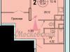 """Схема квартиры в проекте """"Московский (Красная горка)""""- #1558923491"""