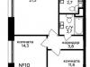 """Схема квартиры в проекте """"Мята""""- #1707450973"""