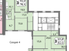 """Схема квартиры в проекте """"мой адрес На Базовской""""- #123298264"""