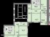 """Схема квартиры в проекте """"мой адрес На Базовской""""- #1815342799"""