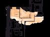 """Схема квартиры в проекте """"на Хлебном""""- #141045401"""