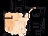 """Схема квартиры в проекте """"на Хлебном""""- #2051125849"""