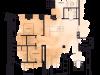 """Схема квартиры в проекте """"на Хлебном""""- #43878980"""