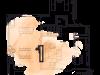 """Схема квартиры в проекте """"на Хлебном""""- #776750681"""