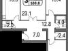 """Схема квартиры в проекте """"на Московской""""- #1311606281"""