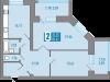 """Схема квартиры в проекте """"на Московской""""- #564043216"""