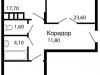 """Схема квартиры в проекте """"На семи холмах""""- #2075961486"""