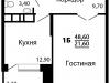 """Схема квартиры в проекте """"На семи холмах""""- #1867609291"""
