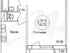 """Схема квартиры в проекте """"на ул. 1-ая Ревсобраний""""- #2083736713"""