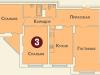 """Схема квартиры в проекте """"на ул. Дубки""""- #465741389"""