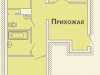 """Схема квартиры в проекте """"на ул. Дубки""""- #1300364993"""