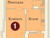 """Схема квартиры в проекте """"на ул. Дубки""""- #1983630411"""