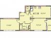 "Схема квартиры в проекте ""на ул. Наташи Качуевской, 1""- #1647127876"