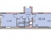 "Схема квартиры в проекте ""на ул. Наташи Качуевской, 1""- #1421778477"