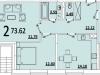 """Схема квартиры в проекте """"на ул. Советская""""- #1829228629"""