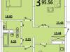 """Схема квартиры в проекте """"на ул. Советская""""- #908696602"""