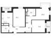 """Схема квартиры в проекте """"на Усиевича""""- #1318014519"""