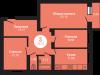 """Схема квартиры в проекте """"на Ярославском шоссе""""- #1758260091"""
