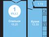 """Схема квартиры в проекте """"на Ярославском шоссе""""- #1203693429"""