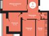 """Схема квартиры в проекте """"на Ярославском шоссе""""- #1514857997"""