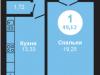 """Схема квартиры в проекте """"на Ярославском шоссе""""- #1752395658"""