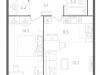 "Схема квартиры в проекте ""Nagatino i-Land""- #497148557"