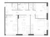 "Схема квартиры в проекте ""Nagatino i-Land""- #19946758"