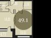 """Схема квартиры в проекте """"Наследие""""- #1117439841"""