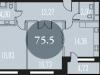 """Схема квартиры в проекте """"Наследие""""- #1747488215"""