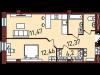 """Схема квартиры в проекте """"Новая Пресня""""- #1348061409"""