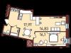 """Схема квартиры в проекте """"Новая Пресня""""- #653356322"""