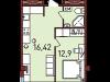 """Схема квартиры в проекте """"Новая Пресня""""- #1835044561"""