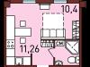 """Схема квартиры в проекте """"Новая Пресня""""- #239816176"""