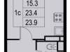 """Схема квартиры в проекте """"Новая Щербинка""""- #1218462405"""