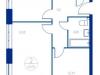 """Схема квартиры в проекте """"Now.Квартал на набережной""""- #1746179595"""