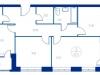 """Схема квартиры в проекте """"Now.Квартал на набережной""""- #1440981498"""