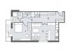 "Схема квартиры в проекте ""NV/9 Artkvartal (НВ/9 Артквартал)""- #422624278"