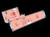 """Схема квартиры в проекте """"Одинбург""""- #764260279"""