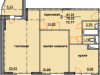 """Схема квартиры в проекте """"Огни Коломны""""- #212742682"""