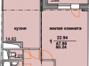 """Схема квартиры в проекте """"Огни Коломны""""- #1282285371"""