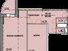 """Схема квартиры в проекте """"Огни Коломны""""- #1647933305"""