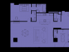 """Схема квартиры в проекте """"Око""""- #1920866670"""
