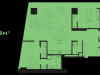"""Схема квартиры в проекте """"Око""""- #1782094479"""