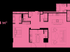 """Схема квартиры в проекте """"Око""""- #747871028"""