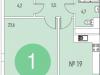 """Схема квартиры в проекте """"Олимпийская деревня Новогорск. Квартиры""""- #1219550819"""